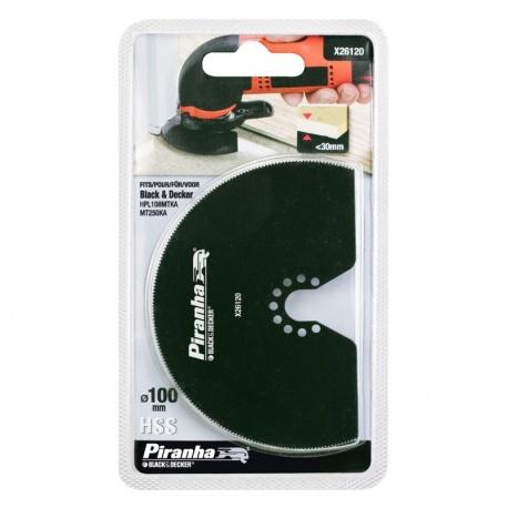 Black & Decker Piranha X26120 Oscillating Circular Blade 100mm for Wood and Metal