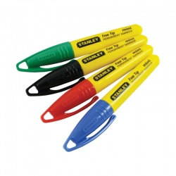 Stanley 1-47-329 ανεξίτηλοι μίνι λεπτοί μαρκαδόροι σε 4 χρώματα