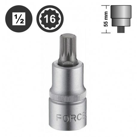 "Force 34805516 πολύσφηνο αρσενικό καρυδάκι 1/2"" - M16"