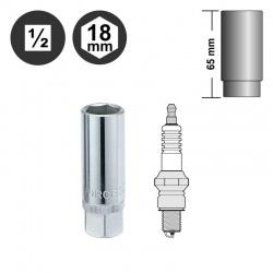 """Force 807418 1/2"""" spark plug socket - 18mm"""