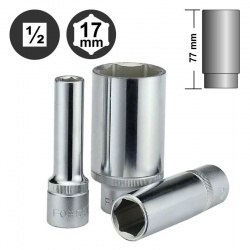 "5457717 - 1/2"" 6pt. Flank Deep Socket - 17mm"