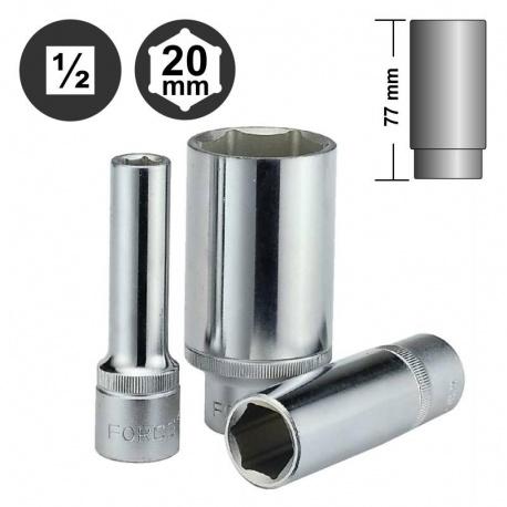 """Force 5457720 εξάγωνο βαθύ καρυδάκι surface 1/2"""" - 20mm"""