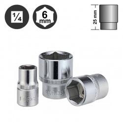 """52506 - 1/4"""" 6pt. Flank Socket - 6mm"""