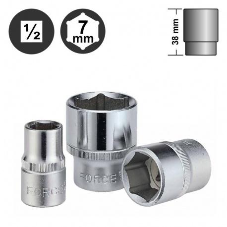 """Force 54507 εξάγωνο καρυδάκι surface 1/2"""" - 7mm"""