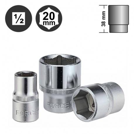 """Force 54520 εξάγωνο καρυδάκι surface 1/2"""" - 20mm"""