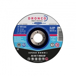 Dronco AS 60 T INOX-BF Superior inox cutting disc 1.0 x 115mm