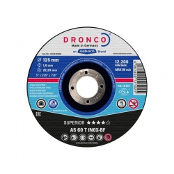 Dronco AS 60 T INOX-BF Superior inox cutting disc 1.0 x 125mm
