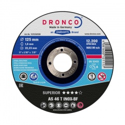 Dronco AS 46 T INOX-BF Superior inox cutting disc 1.6 x 180mm