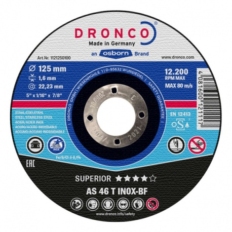 Dronco AS 46 T INOX-BF Superior δίσκος κοπής inox 1.9 x 230mm