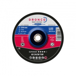 Dronco AS 24/30 T-BF Superior metal grinding disc 6.0 x 125mm