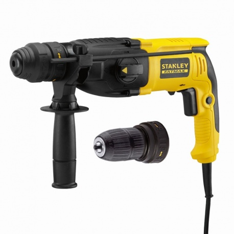 Stanley SFMEH210K 800W SDS Plus pneumatic hammer drill with quick change chuck
