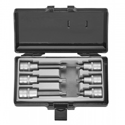 "Force 4061 1/2"" spline socket set - 3 short and 3 long sockets"