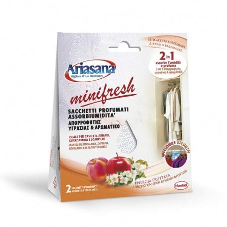 Henkel Ariasana MiniFresh απορροφητής υγρασίας δύναμη φρούτων, 2 x 50gr