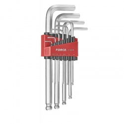 Force 5102BL 10pcs long ball hex-key set