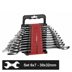 Force 5111 double open end spanners, 11 pcs set
