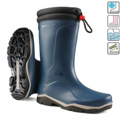 Dunlop Blizzard Waterproof Low-Temperature Wellington Boots Blue