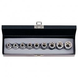"4093 - 1/2"" Female 6-Star Socket Set - 9 pcs"