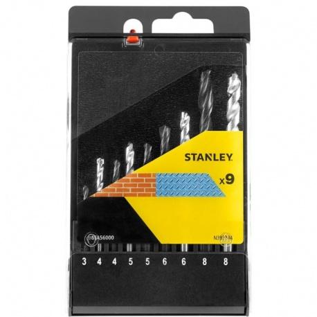 Stanley STA56000 σετ 9 τεμ. τρυπάνια HSS 3-8mm & διαμαντοτρύπανα 4-10mm