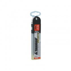 HB-10B EVO Λάμες Μαχαιριών Σπαστές Μαύρες 25 x 0.7mm - 10τεμ
