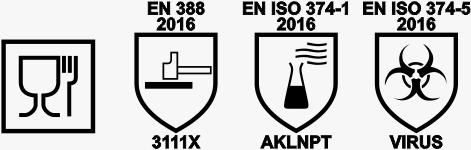 Electrotools - Galaxy Apollo gloves EN388, EN374
